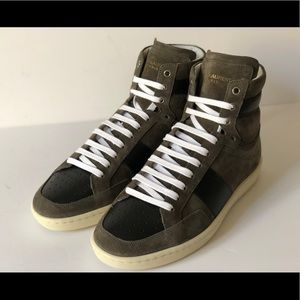 SAINT LAURENT MENS OTTER PROOF WOLLY HIGH-TOP